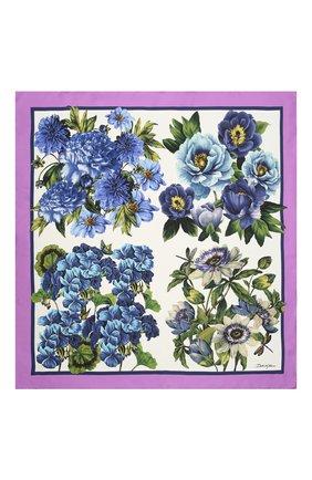 Женский шелковый платок DOLCE & GABBANA разноцветного цвета, арт. IN090R/G0TGD | Фото 2