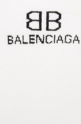 Мужские носки BALENCIAGA белого цвета, арт. 640609/4A4B5 | Фото 2 (Материал внешний: Хлопок; Кросс-КТ: бельё)