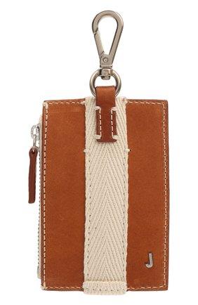 Мужской кожаный кошелек для монет JACQUEMUS коричневого цвета, арт. 215SL06/304820 | Фото 1