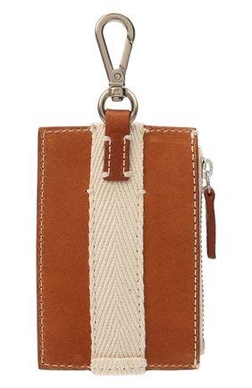Мужской кожаный кошелек для монет JACQUEMUS коричневого цвета, арт. 215SL06/304820 | Фото 2