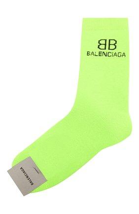 Мужские носки BALENCIAGA зеленого цвета, арт. 640609/4A4B5 | Фото 1