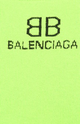 Мужские носки BALENCIAGA зеленого цвета, арт. 640609/4A4B5 | Фото 2