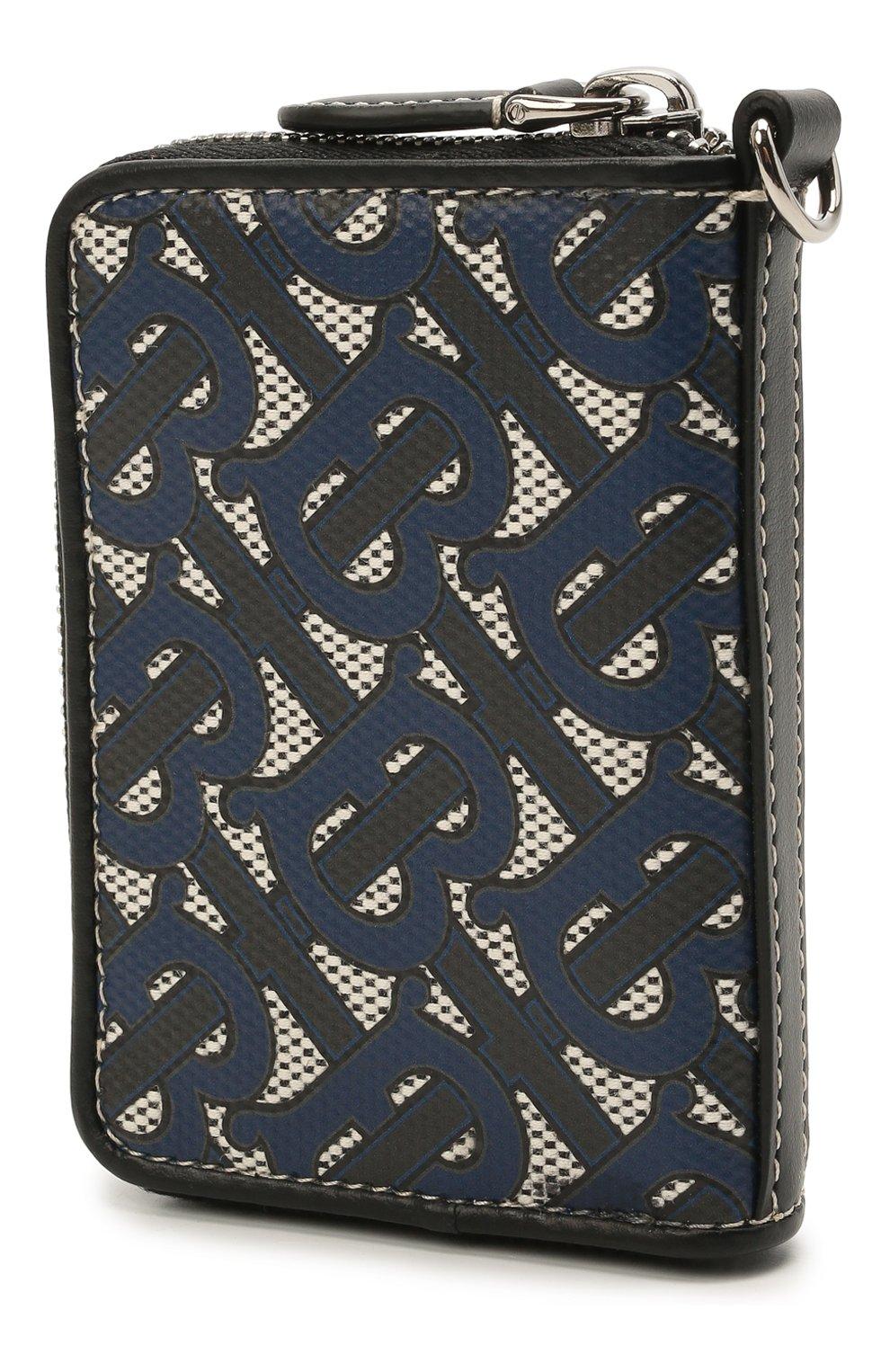 Мужской портмоне BURBERRY темно-синего цвета, арт. 8040283 | Фото 2 (Материал: Текстиль)