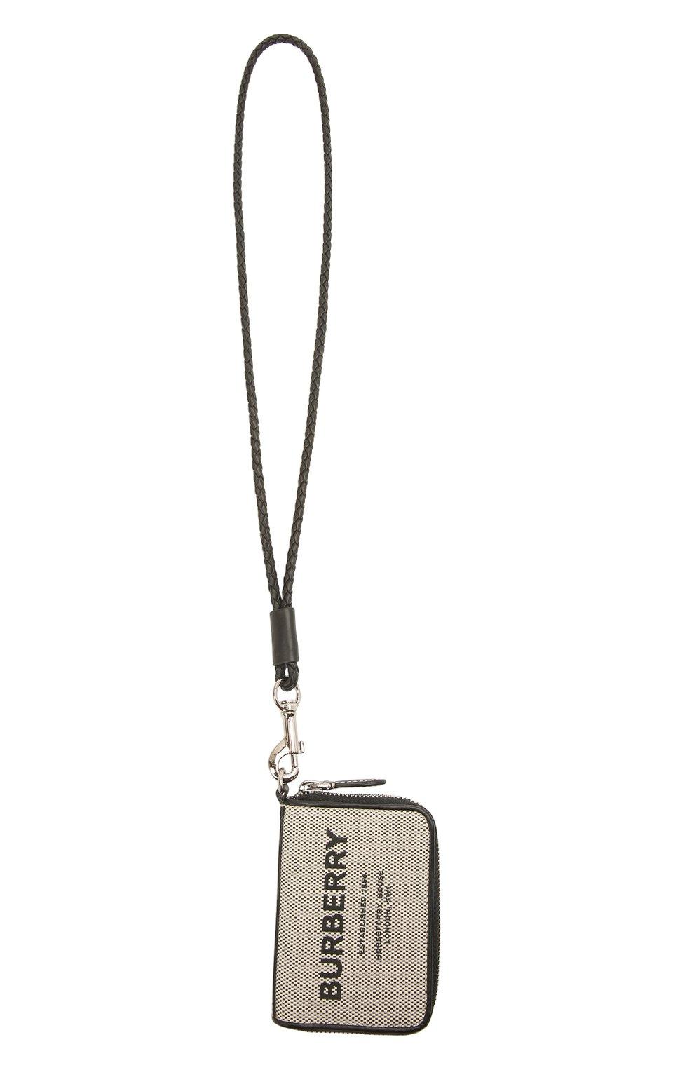 Мужской текстильное портмоне BURBERRY серого цвета, арт. 8039254 | Фото 4
