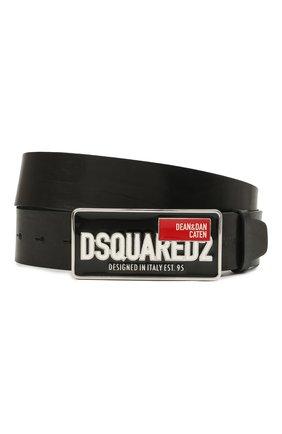 Мужской кожаный ремень DSQUARED2 черного цвета, арт. BEM0343 12900001 | Фото 1