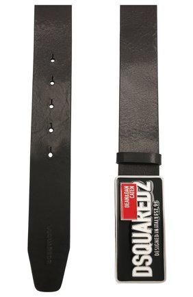 Мужской кожаный ремень DSQUARED2 черного цвета, арт. BEM0343 12900001 | Фото 2