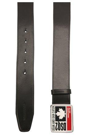 Мужской кожаный ремень DSQUARED2 черного цвета, арт. BEM0344 12900001 | Фото 2
