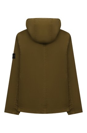 Детского хлопковая куртка STONE ISLAND хаки цвета, арт. 741610510/14 | Фото 2