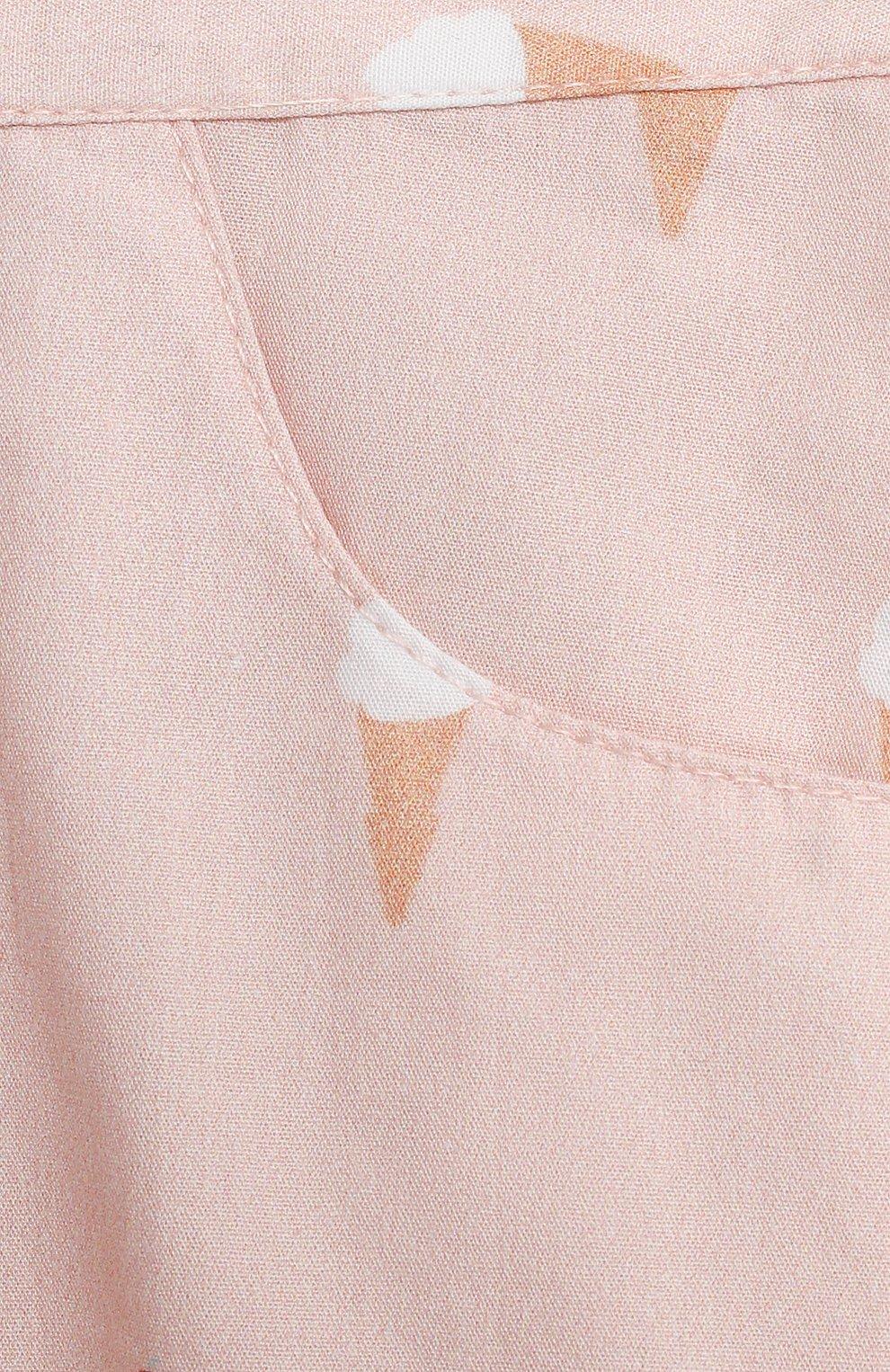Детские хлопковые шорты LES LUTINS PARIS розового цвета, арт. 21E415/SUZIE | Фото 3 (Материал внешний: Хлопок; Ростовка одежда: 9 мес | 74 см, 18 мес | 86 см, 24 мес | 92 см, 3 мес | 62 см, 6 мес | 68 см)