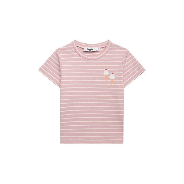 Хлопковая футболка Les Lutins Paris. Цвет: розовый