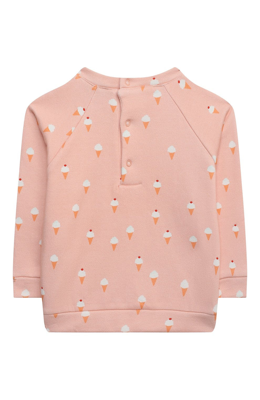 Детский хлопковый свитшот LES LUTINS PARIS розового цвета, арт. 21E309/PR0SPER | Фото 2 (Рукава: Длинные; Материал внешний: Хлопок; Ростовка одежда: 9 мес | 74 см, 18 мес | 86 см, 24 мес | 92 см, 6 мес | 68 см)