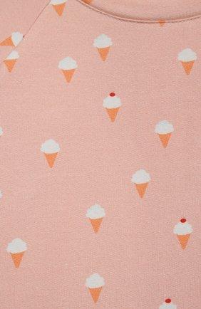 Детский хлопковый свитшот LES LUTINS PARIS розового цвета, арт. 21E309/PR0SPER | Фото 3 (Рукава: Длинные; Материал внешний: Хлопок; Ростовка одежда: 9 мес | 74 см, 18 мес | 86 см, 24 мес | 92 см, 6 мес | 68 см)