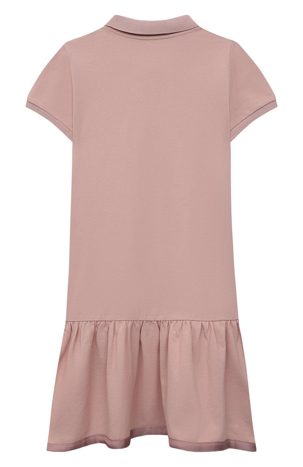 Детское хлопковое платье MONCLER розового цвета, арт. G1-954-8I700-10-8496F/12-14A | Фото 2