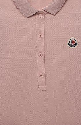 Детское хлопковое платье MONCLER розового цвета, арт. G1-954-8I700-10-8496F/12-14A | Фото 3