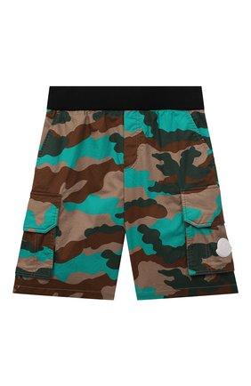 Детские хлопковые шорты MONCLER разноцветного цвета, арт. G1-954-2B704-20-5956Z/4-6A   Фото 1