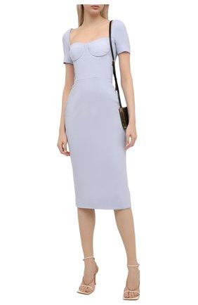 Женское платье DOLCE & GABBANA голубого цвета, арт. I6AF0W/FURDV | Фото 2