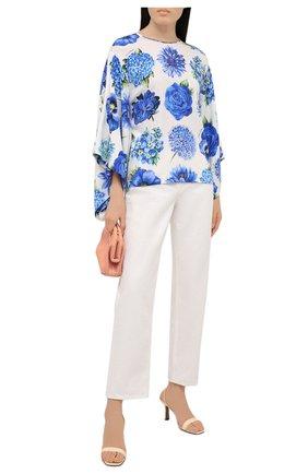 Женская шелковая блузка DOLCE & GABBANA голубого цвета, арт. I7K33W/GDZAK | Фото 2