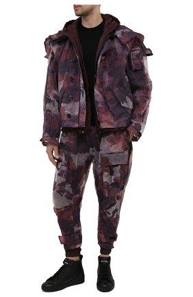 Мужские джоггеры DOLCE & GABBANA бордового цвета, арт. GWT3AZ/G7YEZ | Фото 2 (Мужское Кросс-КТ: Джоггеры-одежда; Материал подклада: Вискоза; Длина (брюки, джинсы): Стандартные; Стили: Милитари; Материал внешний: Синтетический материал; Силуэт М (брюки): Джоггеры)