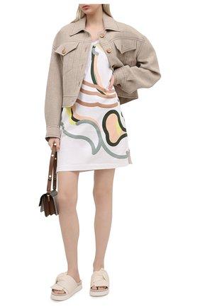 Женское хлопковое платье kenzo x wwf KENZO разноцветного цвета, арт. FB52R07874SB | Фото 2