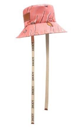 Женская хлопковая панама loewe x paula's ibiza LOEWE розового цвета, арт. K820HF1X13   Фото 1