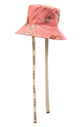 Женская хлопковая панама loewe x paula's ibiza LOEWE розового цвета, арт. K820HF1X13   Фото 2