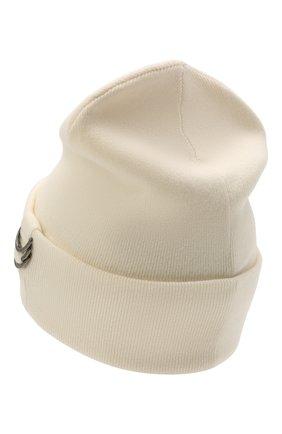 Женская кашемировая шапка BRUNELLO CUCINELLI кремвого цвета, арт. M12170779P | Фото 2 (Материал: Шерсть, Кашемир)