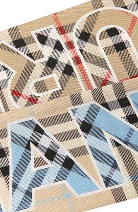 Женский шелковый шарф BURBERRY бежевого цвета, арт. 8040569 | Фото 2