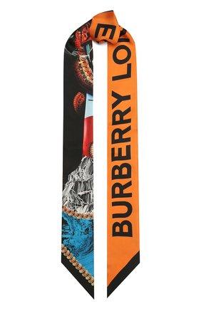 Женский шелковый шарф BURBERRY разноцветного цвета, арт. 8040561 | Фото 1