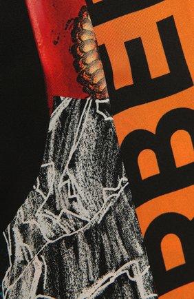 Женский шелковый шарф BURBERRY разноцветного цвета, арт. 8040561 | Фото 2