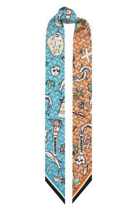Женский шелковый шарф BURBERRY разноцветного цвета, арт. 8040559 | Фото 1