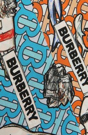 Женский шелковый шарф BURBERRY разноцветного цвета, арт. 8040559 | Фото 2
