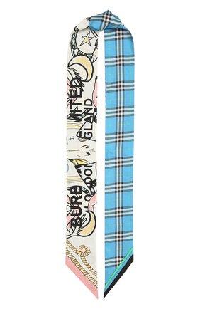 Женский шелковый шарф BURBERRY разноцветного цвета, арт. 8040557 | Фото 1