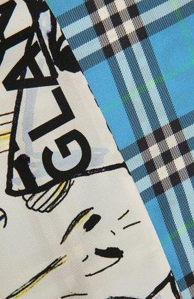 Женский шелковый шарф BURBERRY разноцветного цвета, арт. 8040557 | Фото 2