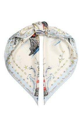 Женский шелковый платок BURBERRY белого цвета, арт. 8040333 | Фото 1