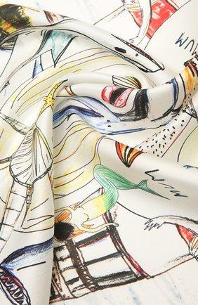 Женский шелковый платок BURBERRY белого цвета, арт. 8040333 | Фото 2