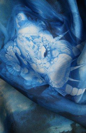 Женский шелковый шарф BURBERRY голубого цвета, арт. 8039875 | Фото 2