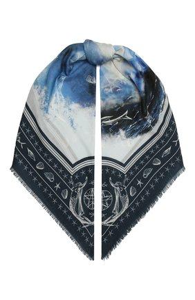 Женская кашемировая шаль BURBERRY синего цвета, арт. 8039873   Фото 1