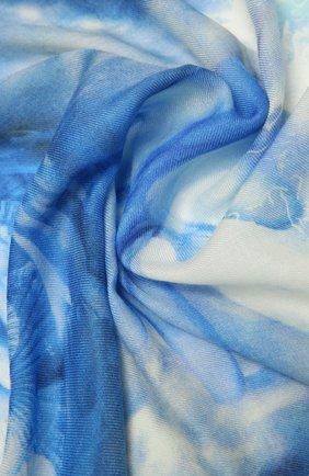Женская кашемировая шаль BURBERRY синего цвета, арт. 8039873   Фото 2