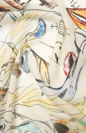 Женская кашемировая шаль BURBERRY белого цвета, арт. 8039813   Фото 2
