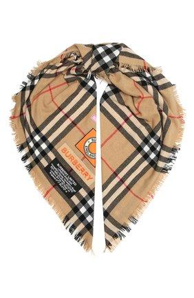 Женский кашемировый шарф BURBERRY разноцветного цвета, арт. 8039430 | Фото 1