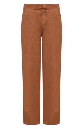 Мужские льняные брюки GRAN SASSO коричневого цвета, арт. 76100/50008 | Фото 1