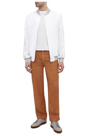 Мужские льняные брюки GRAN SASSO коричневого цвета, арт. 76100/50008 | Фото 2