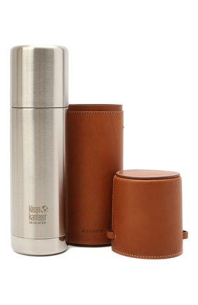 Женского комплект из термоса и чехла JIL SANDER коричневого цвета, арт. JPPS840002-WSB00079 | Фото 1