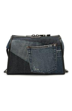 Мужская текстильная сумка edge DOLCE & GABBANA синего цвета, арт. BM1817/AW347 | Фото 1