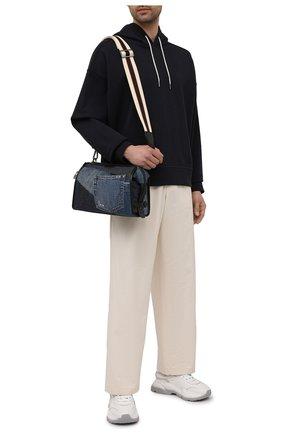 Мужская текстильная сумка edge DOLCE & GABBANA синего цвета, арт. BM1817/AW347 | Фото 2
