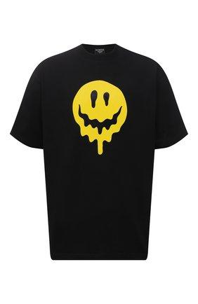 Мужская хлопковая футболка BALENCIAGA черного цвета, арт. 641675/TKVA1 | Фото 1