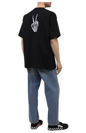 Мужская хлопковая футболка BALENCIAGA черного цвета, арт. 641675/TKVA1 | Фото 2