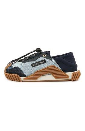 Детские кроссовки DOLCE & GABBANA голубого цвета, арт. D11029/A0537   Фото 2