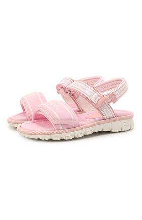 Детские босоножки DOLCE & GABBANA розового цвета, арт. DA0970/A0260/37-39 | Фото 1