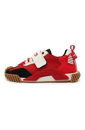 Детские кроссовки DOLCE & GABBANA красного цвета, арт. DA0976/A0271 | Фото 2
